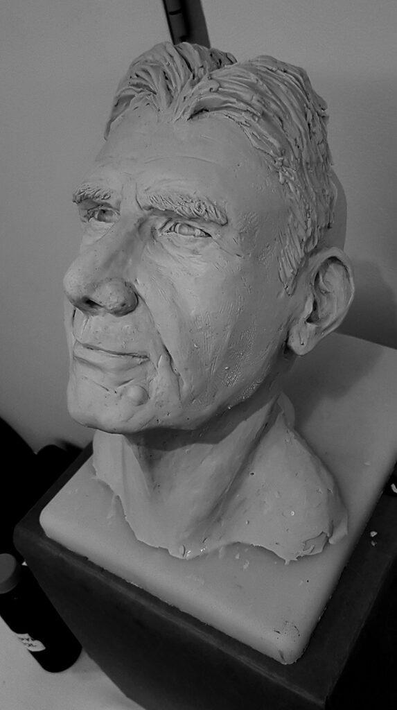 Live Sculpture Demo of Harrison Ford, 2019-BIE Conference- Fremantle